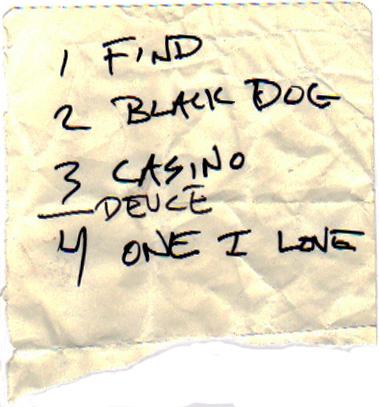 set list, 5-5-10