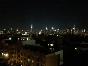 New York skyline, from a Brooklyn rooftop