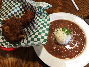 Red beans & fried chicken, Willie Mae's Scotch House, New Orleans