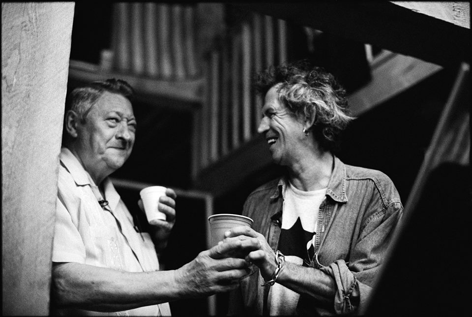 Scotty Moore, Keith Richards, 1996. Photo © Jim Herrington. http://www.jimherrington.com/